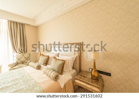 Bedroom room in modern style #291531602