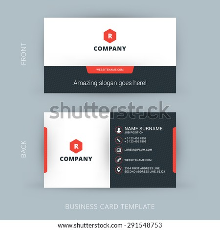 Vector Modern Creative and Clean Business Card Template Royalty-Free Stock Photo #291548753