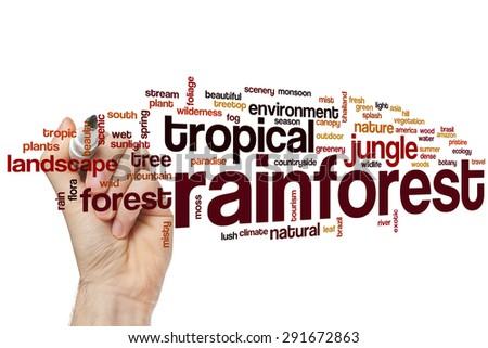 Rainforest word cloud concept #291672863
