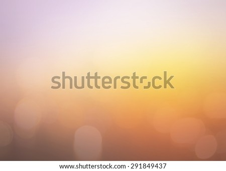 Vintage style, Bokeh sunlight with abstract blur orange city on light of sunset background #291849437