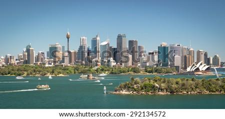 Sydney skyline panoramic view