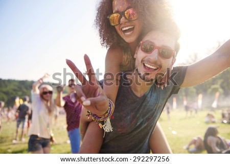 Group of friends having fun together Royalty-Free Stock Photo #292297256