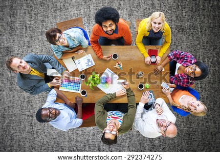 Group of Diverse Designers Having a Meeting Concept #292374275