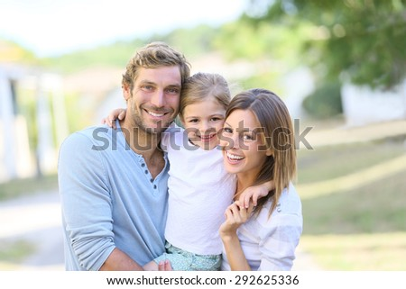 Portrait of happy family having fun together #292625336