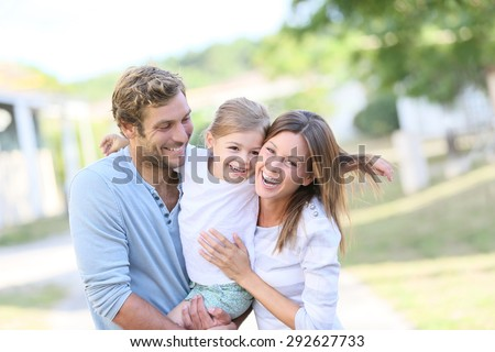 Portrait of happy family having fun together #292627733