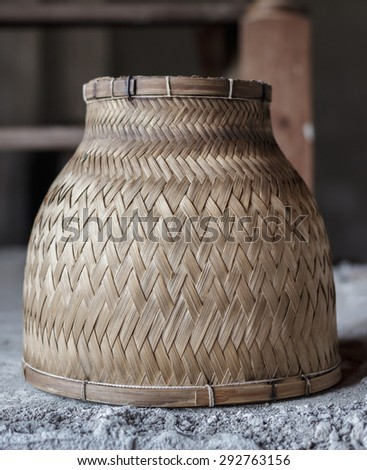 Wood weaving rice steamer vintage #292763156