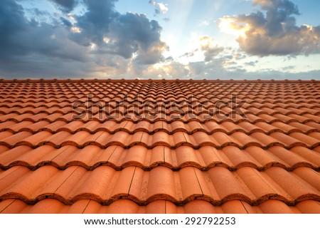 roof tiles and sky sunlight #292792253