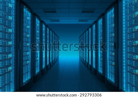 Server room in datacenter. Hosting services. #292793306