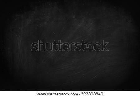 Blackboard / chalkboard texture. Empty blank black chalkboard with chalk traces Royalty-Free Stock Photo #292808840