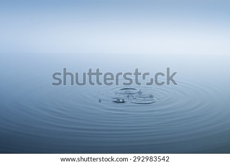 Ripples on the water surface and bubbles #292983542