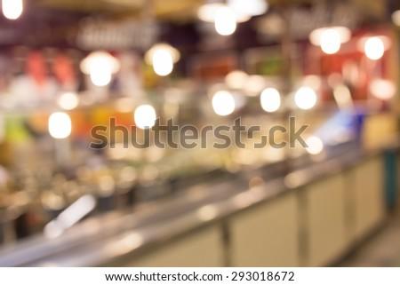 food in restaurant, blur background defocused image #293018672