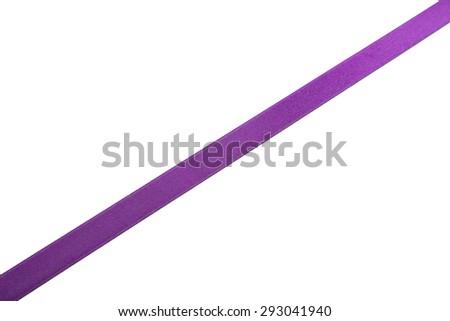Purple ribbon on white background #293041940
