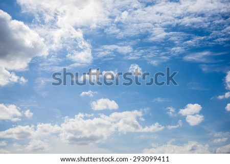 Beautiful clouds and blue sky. #293099411
