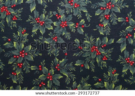 Cloth of the Christmas pattern