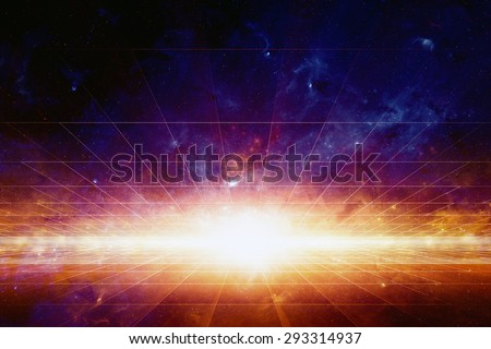 Abstract scientific background, bright light from space, nebula and stars in deep space, glowing mysterious universe. Elements of this image furnished by NASA nasa.gov