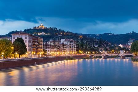 Colorful panoramic view of Verona #293364989