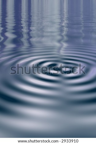 Smooth water ripple spreading out from the center. Computer generated. #2933910