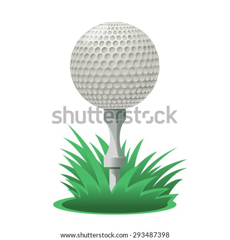 Image of a cartoon Golf ball