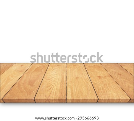 Wooden floor isolated on a white background. #293666693