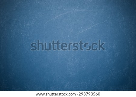 Chalk rubbed out on blueboard