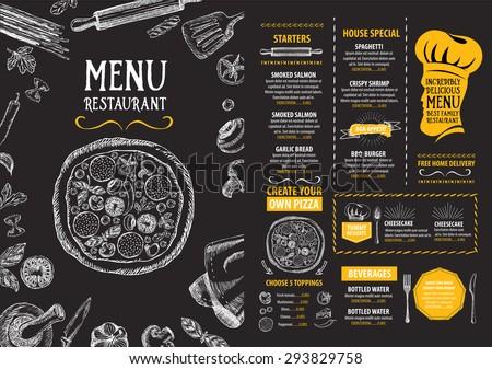 Restaurant cafe menu, template design. Food flyer. Royalty-Free Stock Photo #293829758