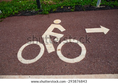 Lane for bicycle #293876843