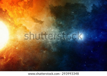 Scientific background, big red star, nebula in deep space, glowing mysterious universe. Elements of this image furnished by NASA nasa.gov