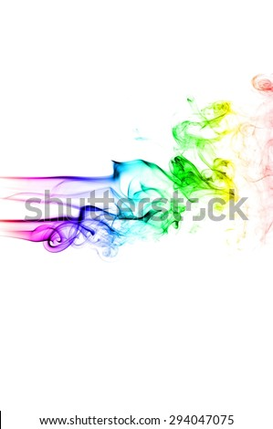 Abstract colorful smoke on white background, smoke background,colorful ink background #294047075