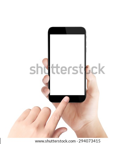 Touch screen smartphone in hand #294073415