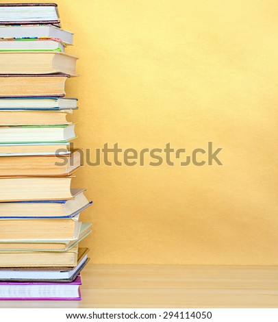 stack book on wooden table #294114050