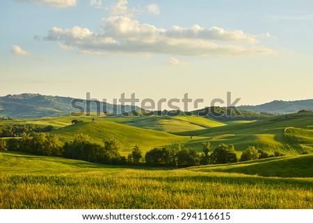 Tuscany hills Royalty-Free Stock Photo #294116615