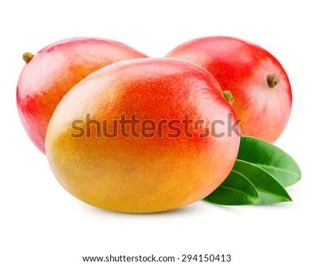 fresh mango isolated on white + Clipping Path #294150413