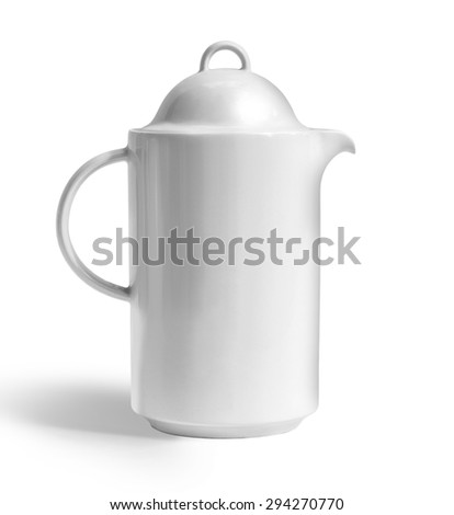 White teapot on a white background with clipping path #294270770