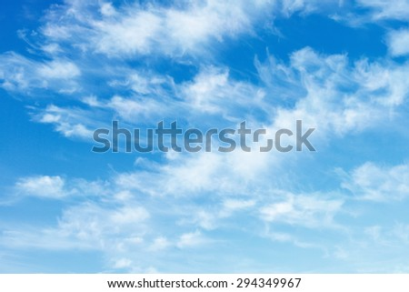 Blue Summer Sky with Clouds #294349967