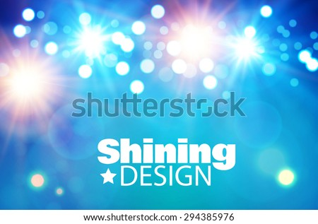 Light & color design. Vector illustration.