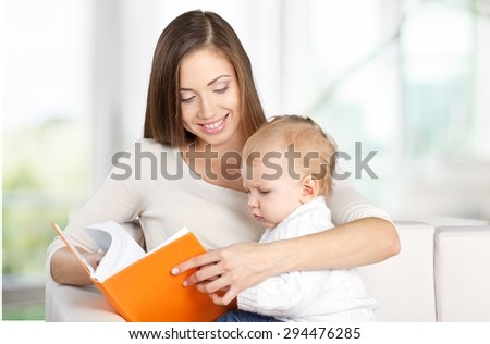 Mother, book, toddler. #294476285