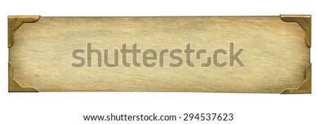 Old wooden plate Royalty-Free Stock Photo #294537623