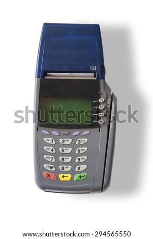 Credit and debit card swipe machine