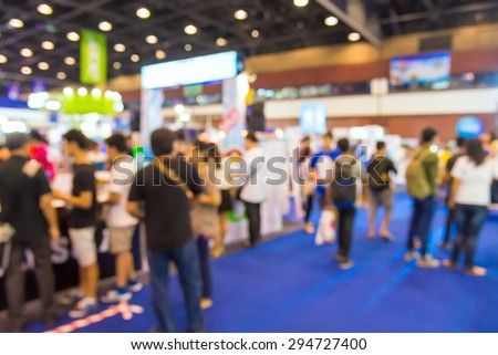 Abstract of blurred people walking in shopping centre. Royalty-Free Stock Photo #294727400