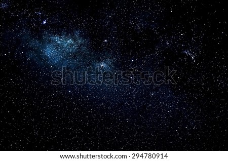 Stars and galaxy space sky night background, Africa, Kenya  Royalty-Free Stock Photo #294780914