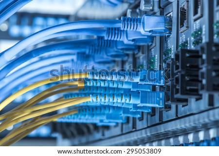 fiber Network Server Royalty-Free Stock Photo #295053809