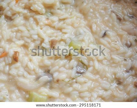Porcino mushrooms rice food traditional European cuisine dish #295118171