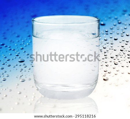 Glass of water isolated on white background #295118216