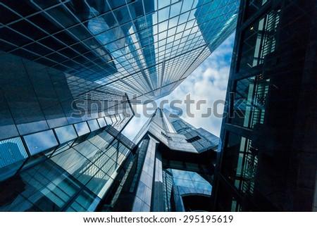 Skyscrapers in Commercial Area, Hongkong #295195619
