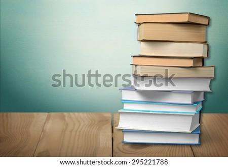 Book, stack, literature. #295221788