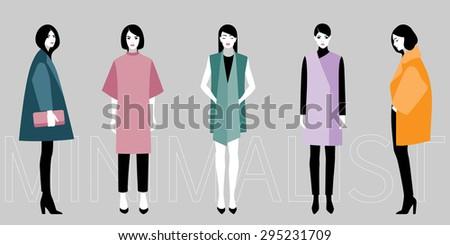 Vector illustration of minimalistic fashion #295231709