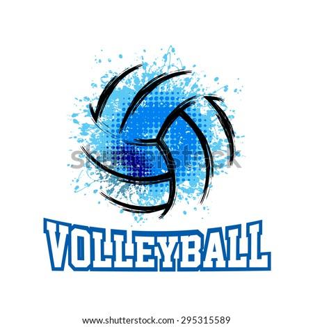 Vector Grunge Volleyball ( T-shirt, Poster, Banner, backdrops design )