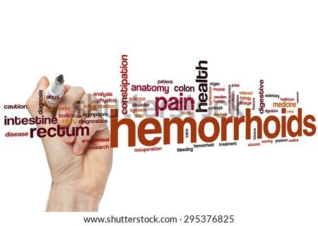 Hemorrhoids word cloud concept #295376825