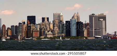 Lower Manhattan, view from the Hudson river