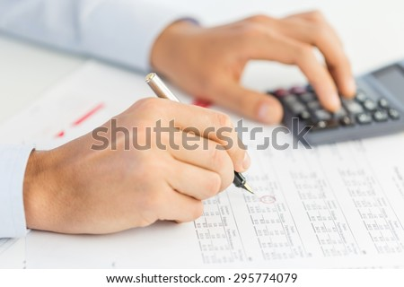 Accounting, concept, price. Royalty-Free Stock Photo #295774079